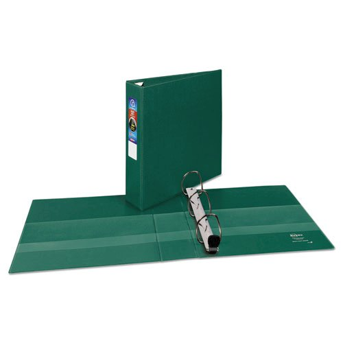 """Heavy-Duty Non-View Binder with DuraHinge and One Touch EZD Rings, 3 Rings, 2"""" Capacity, 11 x 8.5, Green. Picture 2"""