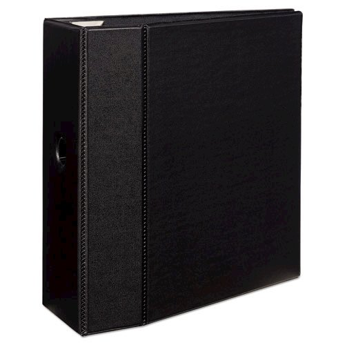 """Heavy-Duty Non-View Binder with DuraHinge, Locking One Touch EZD Rings and Thumb Notch, 3 Rings, 5"""" Capacity, 11 x 8.5, Black. Picture 3"""