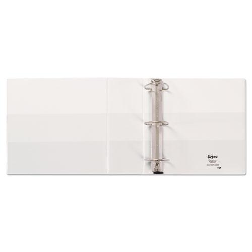 """Heavy-Duty View Binder with DuraHinge and Locking One Touch EZD Rings, 3 Rings, 4"""" Capacity, 11 x 8.5, White. Picture 10"""