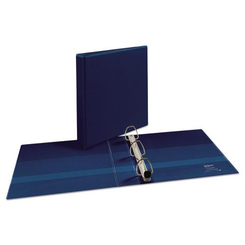 """Heavy-Duty View Binder with DuraHinge and One Touch EZD Rings, 3 Rings, 1.5"""" Capacity, 11 x 8.5, Navy Blue. Picture 2"""