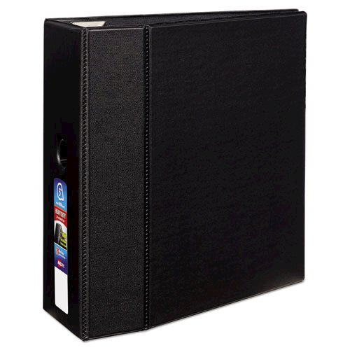 """Heavy-Duty Non-View Binder with DuraHinge, Locking One Touch EZD Rings and Thumb Notch, 3 Rings, 5"""" Capacity, 11 x 8.5, Black. Picture 6"""