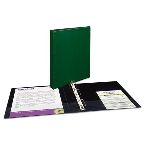 """Durable Non-View Binder with DuraHinge and Slant Rings, 3 Rings, 1"""" Capacity, 11 x 8.5, Green. Picture 6"""
