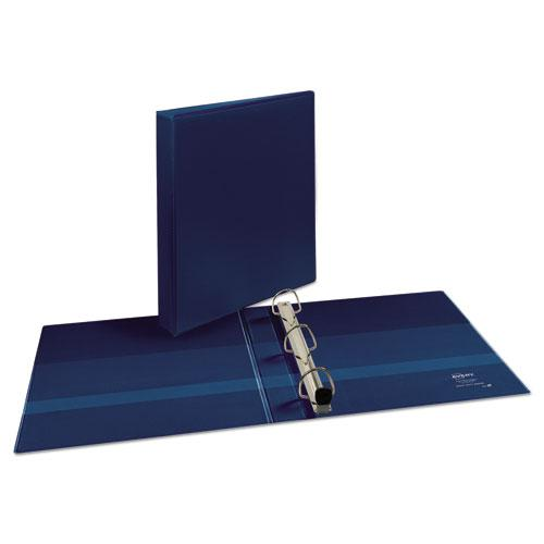 "Heavy-Duty View Binder with DuraHinge and One Touch EZD Rings, 3 Rings, 1"" Capacity, 11 x 8.5, Navy Blue. Picture 4"