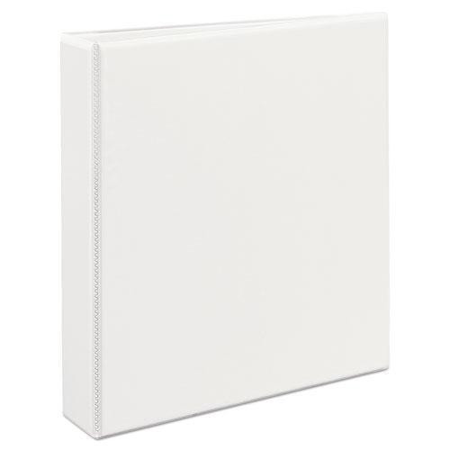 """Durable View Binder with DuraHinge and EZD Rings, 3 Rings, 1.5"""" Capacity, 11 x 8.5, White, (9401). Picture 8"""