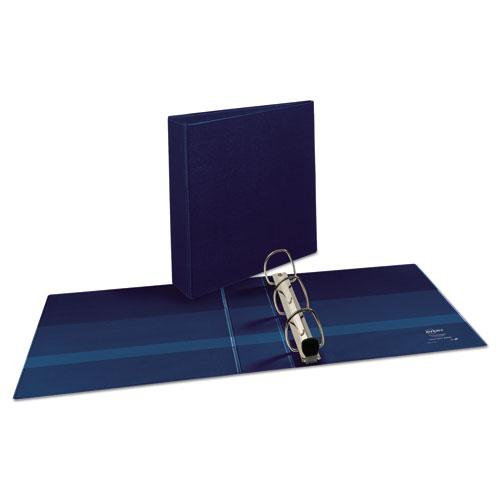 """Heavy-Duty View Binder with DuraHinge and One Touch EZD Rings, 3 Rings, 2"""" Capacity, 11 x 8.5, Navy Blue. Picture 7"""