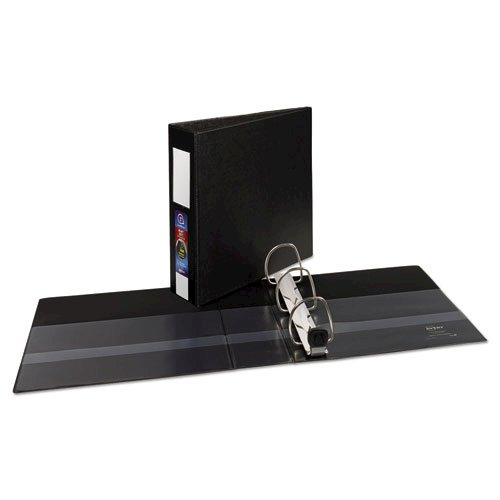 """Heavy-Duty Non-View Binder with DuraHinge, Three Locking One Touch EZD Rings and Spine Label, 3"""" Capacity, 11 x 8.5, Black. Picture 5"""