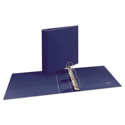 """Durable View Binder with DuraHinge and Slant Rings, 3 Rings, 2"""" Capacity, 11 x 8.5, Blue. Picture 4"""
