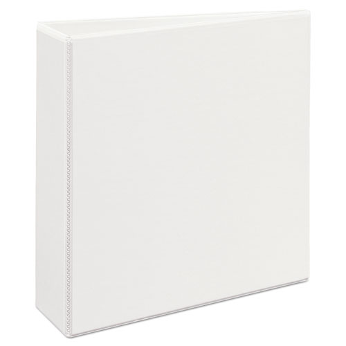 "Heavy-Duty Non Stick View Binder with DuraHinge and Slant Rings, 3 Rings, 3"" Capacity, 11 x 8.5, White, (5604). Picture 4"