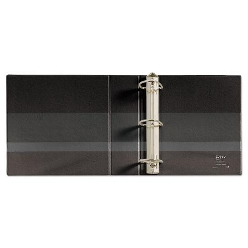 """Durable Non-View Binder with DuraHinge and EZD Rings, 3 Rings, 3"""" Capacity, 11 x 8.5, Black, (7701). Picture 5"""
