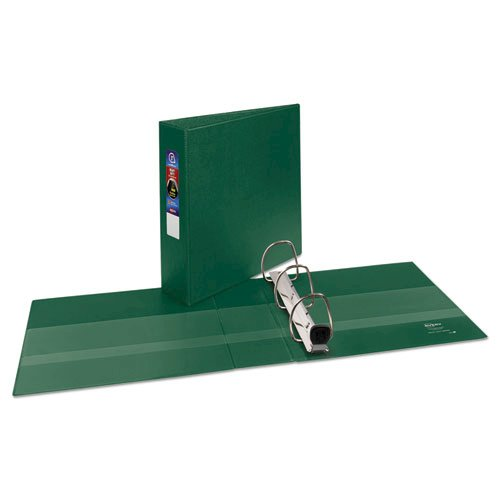 """Heavy-Duty Non-View Binder with DuraHinge and Locking One Touch EZD Rings, 3 Rings, 3"""" Capacity, 11 x 8.5, Green. Picture 2"""