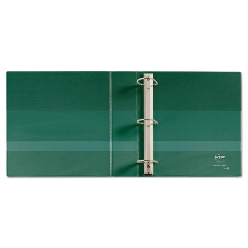 """Heavy-Duty Non-View Binder with DuraHinge and One Touch EZD Rings, 3 Rings, 2"""" Capacity, 11 x 8.5, Green. Picture 3"""