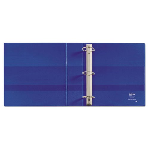 "Heavy-Duty Non-View Binder with DuraHinge and One Touch EZD Rings, 3 Rings, 2"" Capacity, 11 x 8.5, Blue. Picture 3"