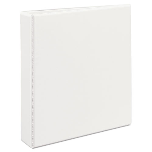 """Heavy-Duty Non Stick View Binder with DuraHinge and Slant Rings, 3 Rings, 1.5"""" Capacity, 11 x 8.5, White, (5404). Picture 5"""
