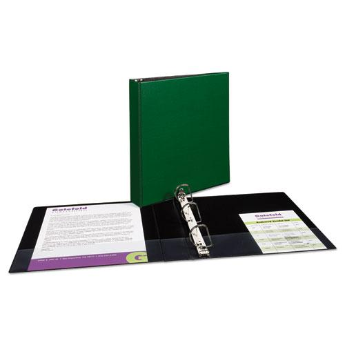 """Durable Non-View Binder with DuraHinge and Slant Rings, 3 Rings, 1.5"""" Capacity, 11 x 8.5, Green. Picture 3"""