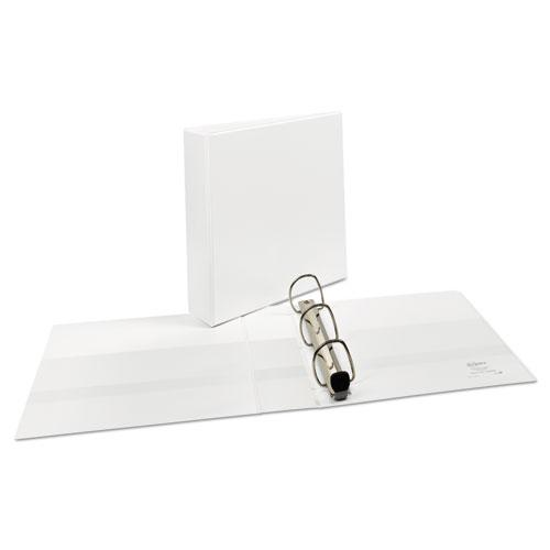 """Heavy-Duty View Binder with DuraHinge and One Touch EZD Rings, 3 Rings, 2"""" Capacity, 11 x 8.5, White. Picture 8"""