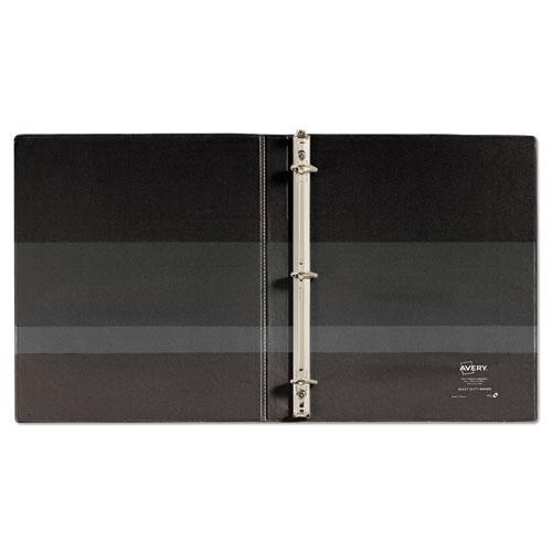 """Heavy-Duty Non Stick View Binder with DuraHinge and Slant Rings, 3 Rings, 0.5"""" Capacity, 11 x 8.5, Black, (5233). Picture 3"""