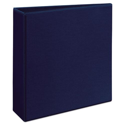 """Heavy-Duty View Binder with DuraHinge and Locking One Touch EZD Rings, 3 Rings, 3"""" Capacity, 11 x 8.5, Navy Blue. Picture 10"""