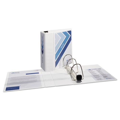 """Heavy-Duty View Binder with DuraHinge and Locking One Touch EZD Rings, 3 Rings, 5"""" Capacity, 11 x 8.5, White. Picture 9"""