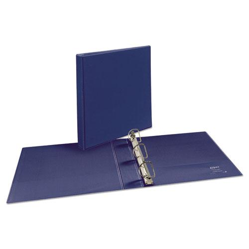 """Durable View Binder with DuraHinge and Slant Rings, 3 Rings, 1.5"""" Capacity, 11 x 8.5, Blue. Picture 9"""