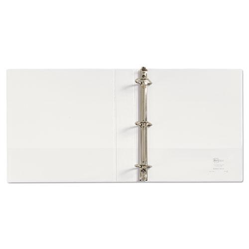 """Durable View Binder with DuraHinge and Slant Rings, 3 Rings, 1.5"""" Capacity, 11 x 8.5, White. Picture 3"""
