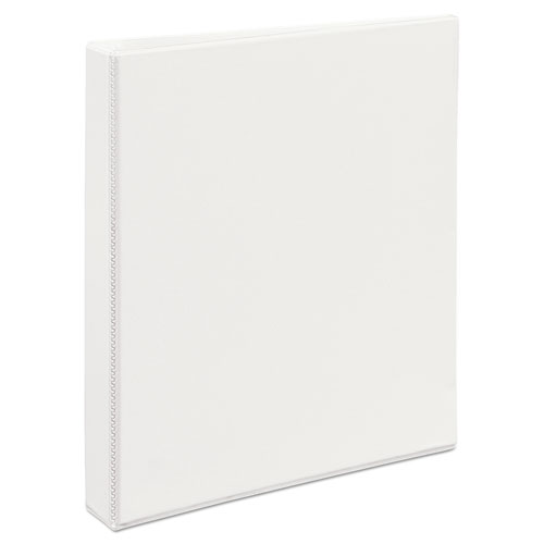 "Heavy-Duty Non Stick View Binder with DuraHinge and Slant Rings, 3 Rings, 1"" Capacity, 11 x 8.5, White, (5304). Picture 5"
