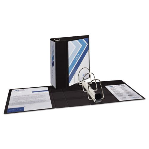 """Heavy-Duty View Binder with DuraHinge and Locking One Touch EZD Rings, 3 Rings, 5"""" Capacity, 11 x 8.5, Black. Picture 3"""