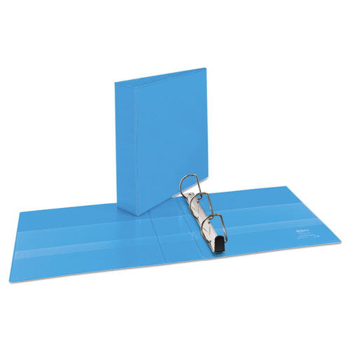 """Heavy-Duty Non Stick View Binder with DuraHinge and Slant Rings, 3 Rings, 2"""" Capacity, 11 x 8.5, Light Blue, (5501). Picture 7"""