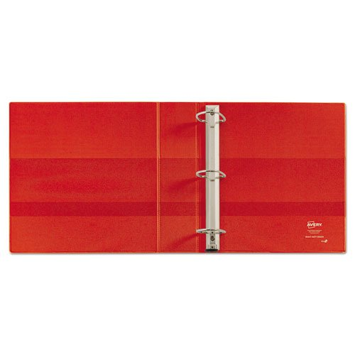 """Heavy-Duty Non-View Binder with DuraHinge and Locking One Touch EZD Rings, 3 Rings, 4"""" Capacity, 11 x 8.5, Red. Picture 2"""