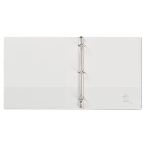 """Durable View Binder with DuraHinge and Slant Rings, 3 Rings, 1"""" Capacity, 11 x 8.5, White. Picture 7"""