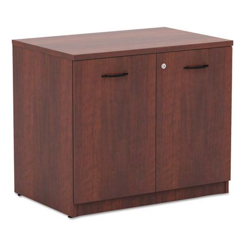 Alera Valencia Series Storage Cabinet, 34 1/8w x 22 7/8d x 29 1/2h, Medium Cherry. Picture 1
