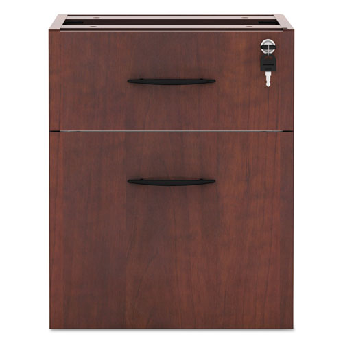 Alera Valencia Series 3/4 Box/File Pedestal, 15.63w x 20.5d x 19.25h, Medium Cherry. Picture 2