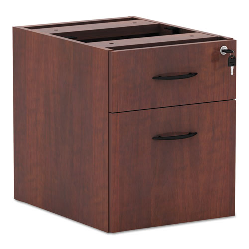Alera Valencia Series 3/4 Box/File Pedestal, 15.63w x 20.5d x 19.25h, Medium Cherry. Picture 1