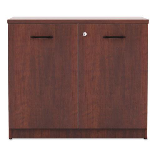 Alera Valencia Series Storage Cabinet, 34 1/8w x 22 7/8d x 29 1/2h, Medium Cherry. Picture 2
