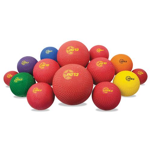 Playground Ball Set, Multi-Size, Multi-Color, Nylon, 14/Set. Picture 1