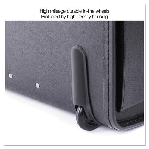Catalog Case on Wheels, Koskin, 19 x 9 x 15-1/2, Black. Picture 16