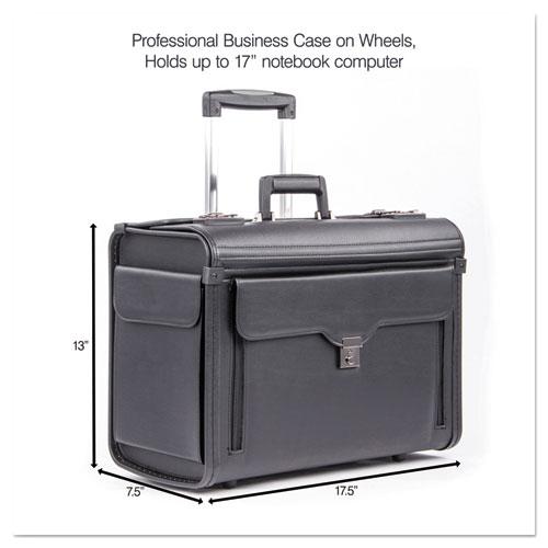 Catalog Case on Wheels, Koskin, 19 x 9 x 15-1/2, Black. Picture 7