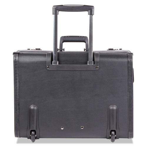 Catalog Case on Wheels, Koskin, 19 x 9 x 15-1/2, Black. Picture 6
