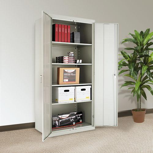"""Assembled 78"""" High Storage Cabinet, w/Adjustable Shelves, 36w x 24d, Light Gray. Picture 3"""