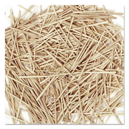 Flat Wood Toothpicks, Wood, Natural, 2,500/Pack. The main picture.