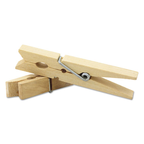Wood Spring Clothespins, 3.38 Length, 50 Clothespins/Pack. Picture 2