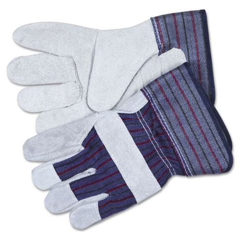 Split Leather Palm Gloves, X-Large, Gray, Pair. Picture 1