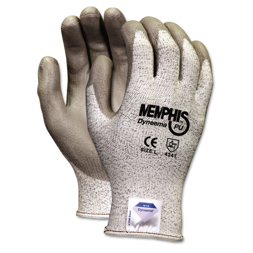 Memphis Dyneema Polyurethane Gloves, X-Large, White/Gray, Pair. Picture 1