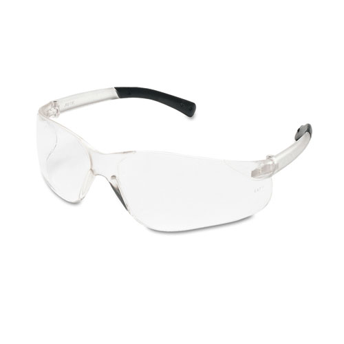 BearKat Safety Glasses, Wraparound, Black Frame/Clear Lens. Picture 1