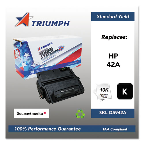751000NSH0180 Remanufactured Q5942A (42A) Toner, 10000 Page-Yield, Black. Picture 1