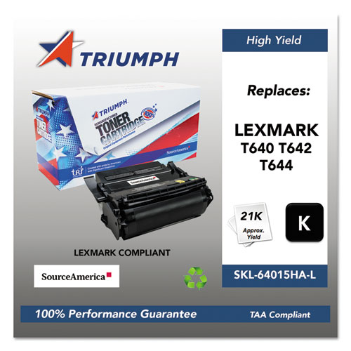 751000NSH0381 Remanufactured 64035HA (T640) High-Yield Toner, Black. Picture 1