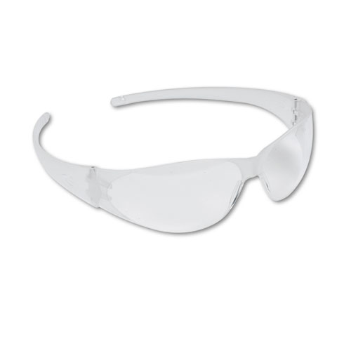 Checkmate Wraparound Safety Glasses, CLR Polycarb Frm, Uncoated CLR Lens, 12/Box. Picture 1