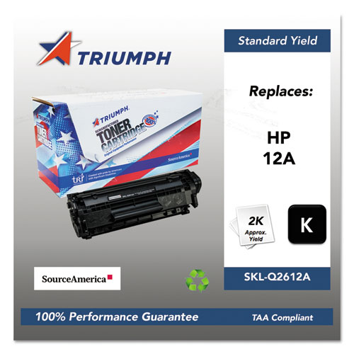 751000NSH0171 Remanufactured Q2612A (12A) Toner, 2000 Page-Yield, Black. Picture 1