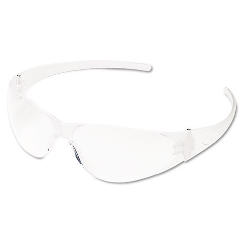 Checkmate Wraparound Safety Glasses, CLR Polycarbonate Frame, Coated Clear Lens. Picture 3
