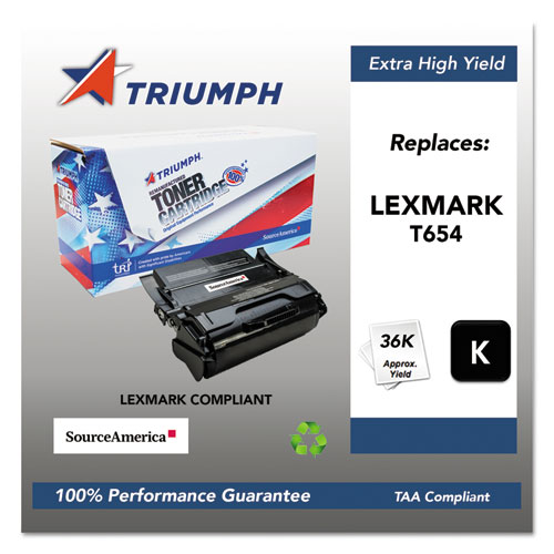 751000NSH1064 Remanufactured T654X41G (T654) Toner, 36000 Page-Yield, Black. Picture 1