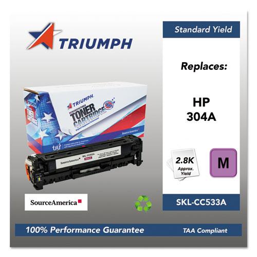 751000NSH0974 Remanufactured CC533A (304A) Toner, Magenta. Picture 1